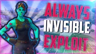 FORTNITE SEASON 6 INVISIBLE GLITCH / NEW SHADOW EXPLOIT ALWAYS INVISIBLE