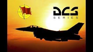 DCS World: F-16C Viper - Визуальный заход на посадку по короткому кругу (перевод)