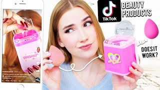 Testing POPULAR TikTok Beauty Products !! *are these products any good?* & yes my skin reacted :)