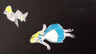 Sophie and drew Alice in wonderland beach