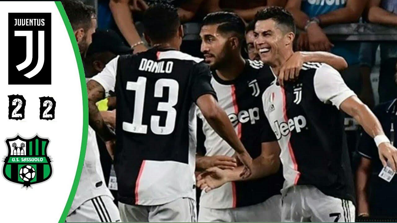 ملخص كامل مباراة يوفنتوس وساسولو 2-2 - رونالدو يسجل وينقذ اليوفي -