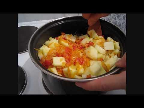 Овощное рагу с кабачком. Из остатков запасов домашних свежих овощей.