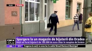 Spargere la o bijuterie din Oradea. S-au furat bijuterii de 100.000 de euro
