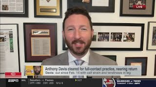 Dave Mcmenamin REPORTS AD will probably take to the road with Lakers having a 4-game tour in Dallas