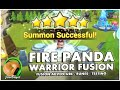 SUMMONERS WAR : Fire Panda Warrior Fusion! (testing, playtime, runes and more)