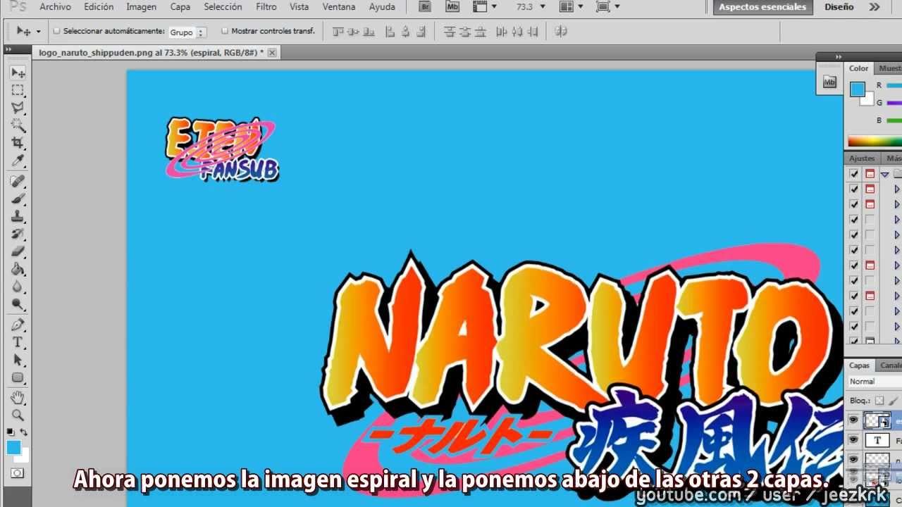 Tutorial] Logo Naruto Shippuden Photoshop - YouTube