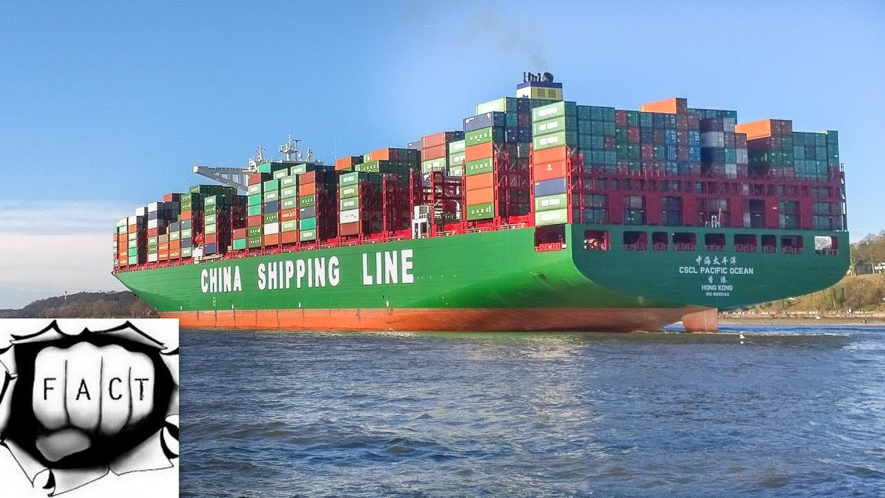 Top 10 Largest Container Ships In The World - YouTube