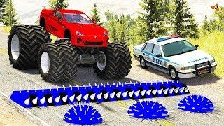Мультик 2019 про машинки разбиваются Прыжки Beamng drive jump cars
