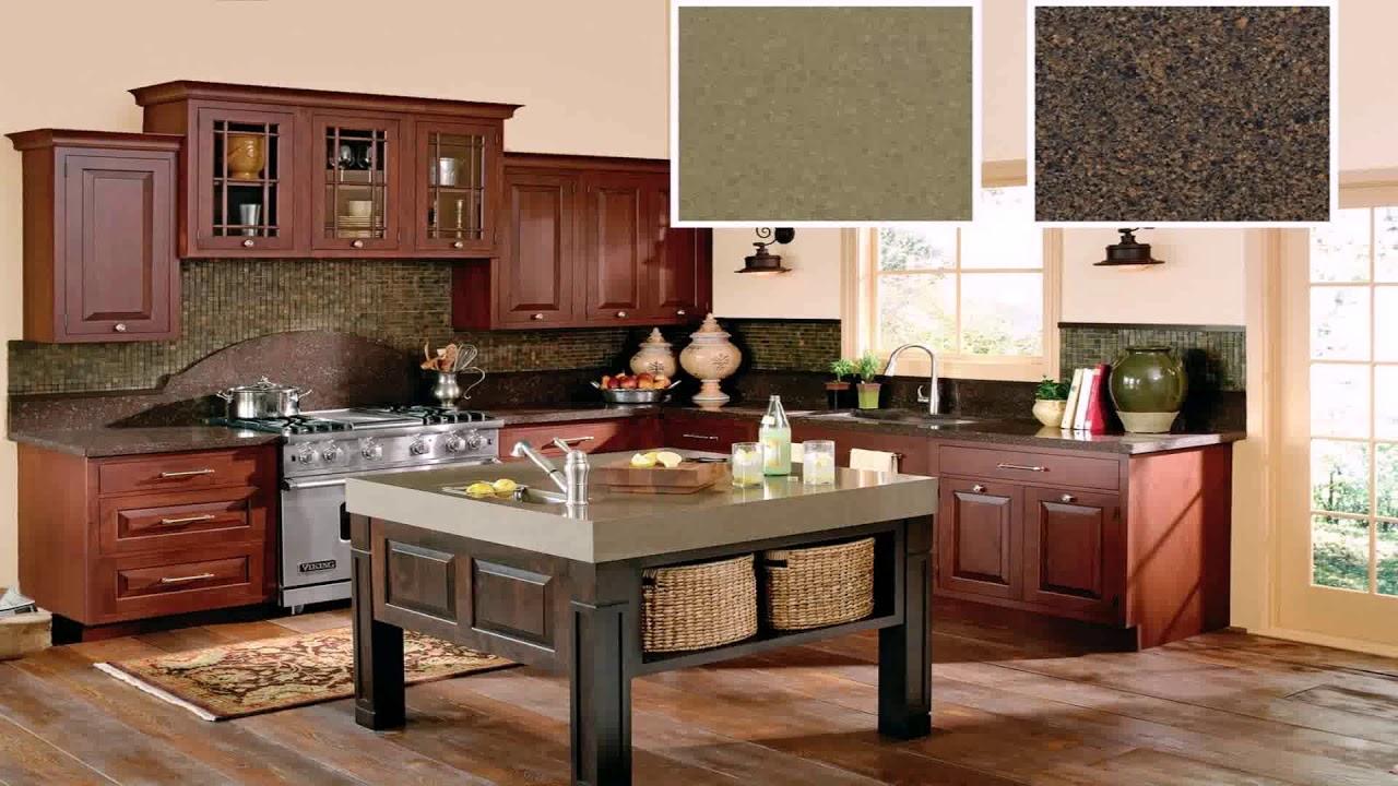 Cherry Kitchen Cabinets With White Quartz Countertops Youtube