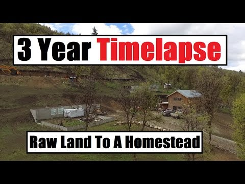 I Built My House By Myself - 3 Year Timelapse - Off Grid - Debt Free