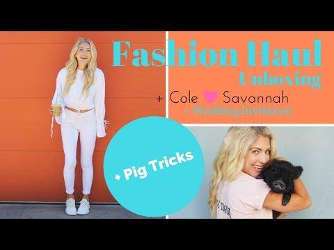 FASHION HAUL - Summer + Savannah & Cole's Wedding Invitation + Mini Pig Tricks!