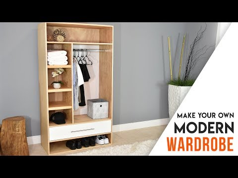 DIY CLOSET // MODERN Wardrobe with a drawer