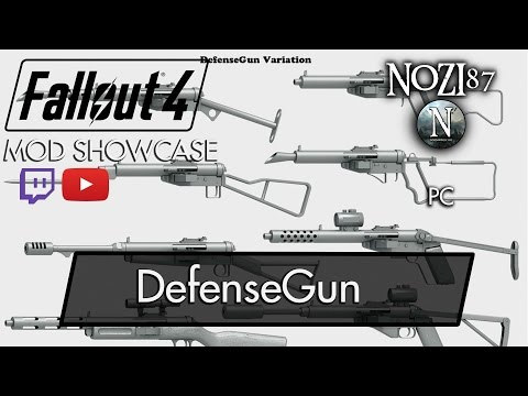 Fallout 4 Mod Showcase: DefenseGun by Yona