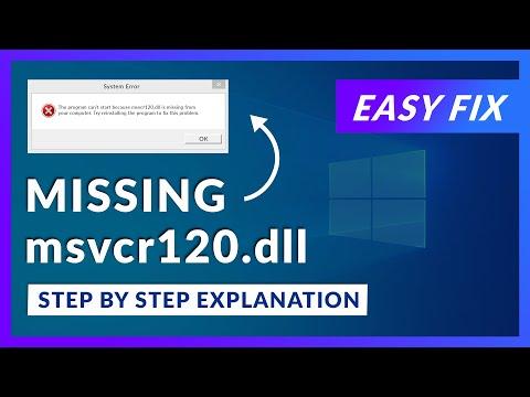 msvcr120.dll Missing Error   How to Fix   2 Fixes   2021