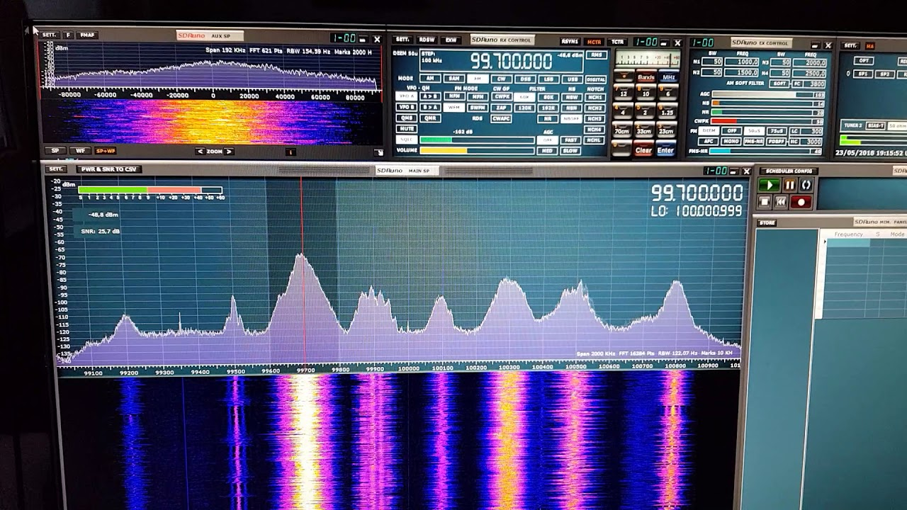 Sdrplay sdr-duo installed and running hooked up three antennas!!