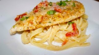 Sun Dried Tomato Chicken Fettuccine - Cooked By Julie - Episode 68