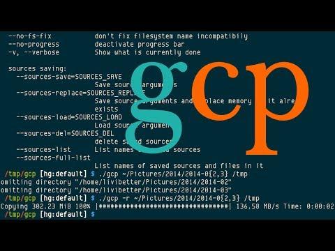 """gcp, """"advanced command-line file copier,"""" cp with progress bar"""