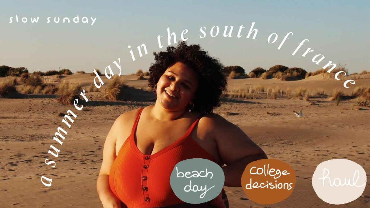 SLOW SUNDAYS ll beach day, college decisions, haul & sunset 🌅