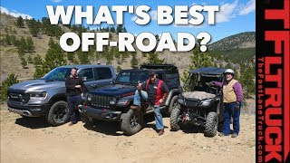 What's The Best Offroader? Pickup Truck vs Jeep vs Side-by-Side vs Cliffhanger 2.0!