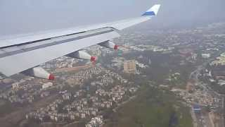 Landing at Delhi Airport runway 28