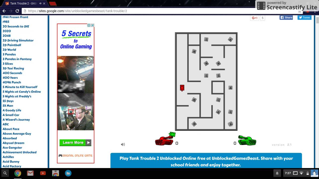 Tank Trouble 2 Unblocked Games 66 At School | Gameswalls.org