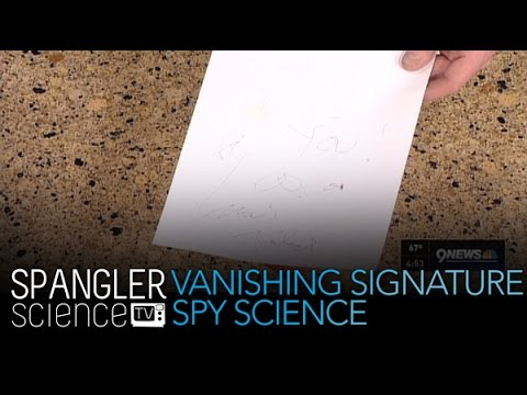 How to Make Your Signature Vanish Spy Science - Cool Science Experiment