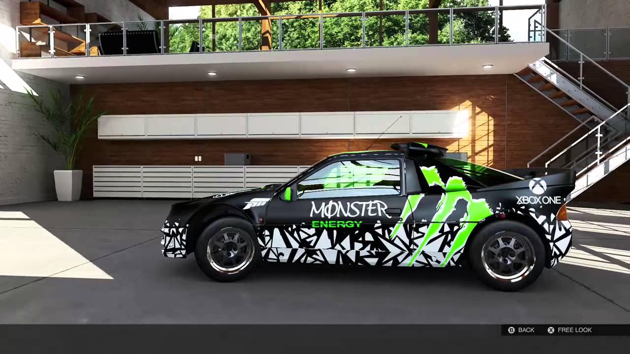 forza motorsport 5 ford rs200 evolution monster energy youtube. Black Bedroom Furniture Sets. Home Design Ideas