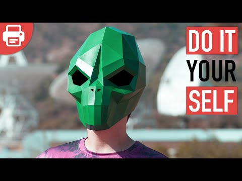 HOW TO MAKE AN ALIEN MASK | DIY