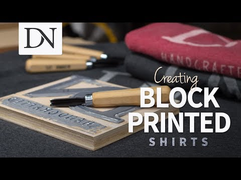 Creating Block Printed Shirts // Linocut Shirts // DIY
