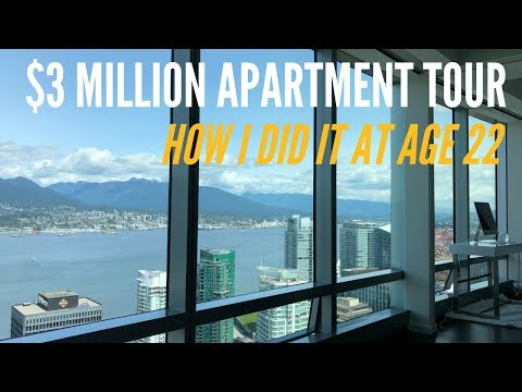 $3 Million Dollar Apartment Tour In Downtown Vancouver, BC (22 Year Old Entrepreneur)