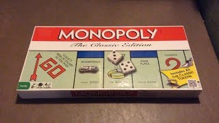 Monopoly The Classic Edition Board Game Unboxing