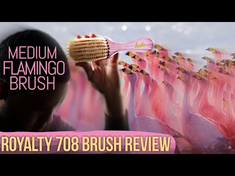 360 Waves: Royalty 708 Brush Review - Pink Flamingo Medium Brush and Find A Brush Holder! (10 of 52)