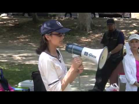 Anne Marie Johnson at the SAG member Vote NO Picnic