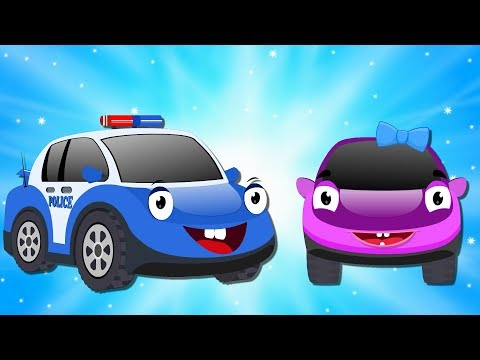 Bob the Police Car  BOB and the Bas day out  Car Cartoons for Kids