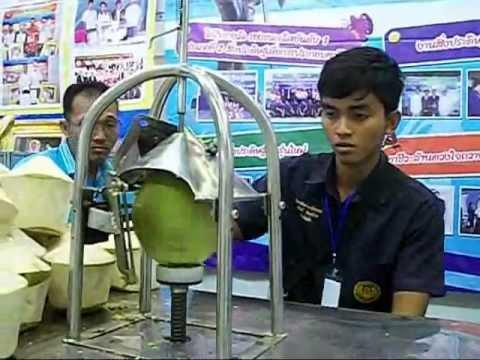 เครื่องปอกเปลื่อกมะพร้าวอ่อน&Machine coconut shell.