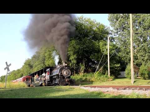 5617.MOV Flagg Coal Saddle Tank Porter Steam Locomotive #75
