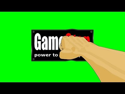 Animated Fist Punching GameStop Logo ~ Green Screen - YouTube