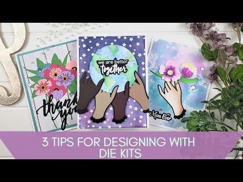 3 Quick Design Tips for Die Kits | Spellbinders Small Die of The Month Jun 20