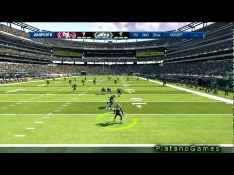 NFL 2012 Week 4 - San Francisco 49ers vs New York Jets - 1st Half - Madden NFL