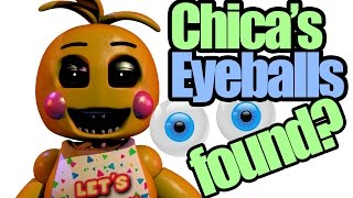 Chica's eyeballs found? it's not in her cupcake? (five nights at freddy's theory)