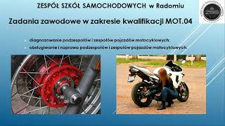 Branżowa Szkoła - mechanik motocyklowy