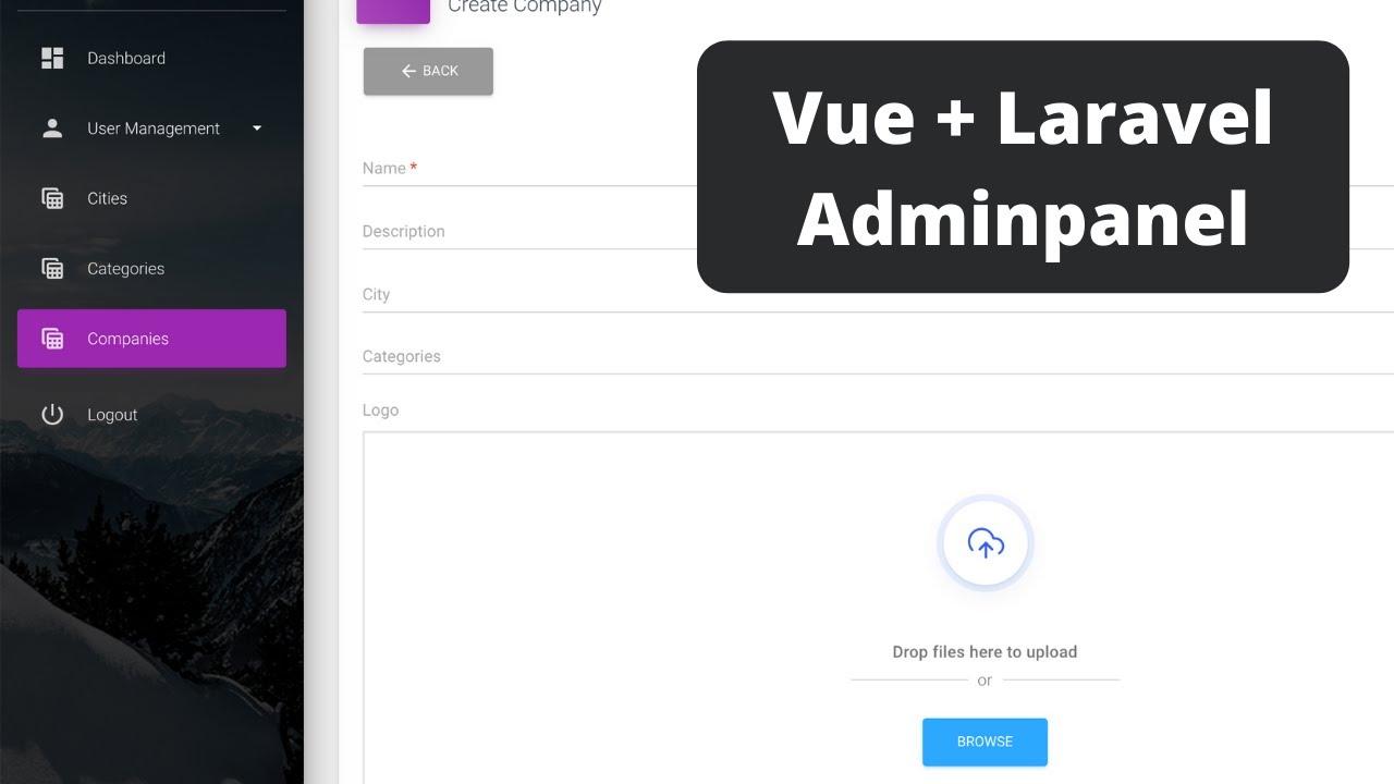 Laravel Vue SPA: Manage Companies with QuickAdminPanel