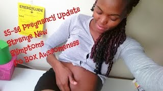 35-36 Weeks Pregnancy Update | Vision Problems, Leg Cramps| PO Box| Belly Shot