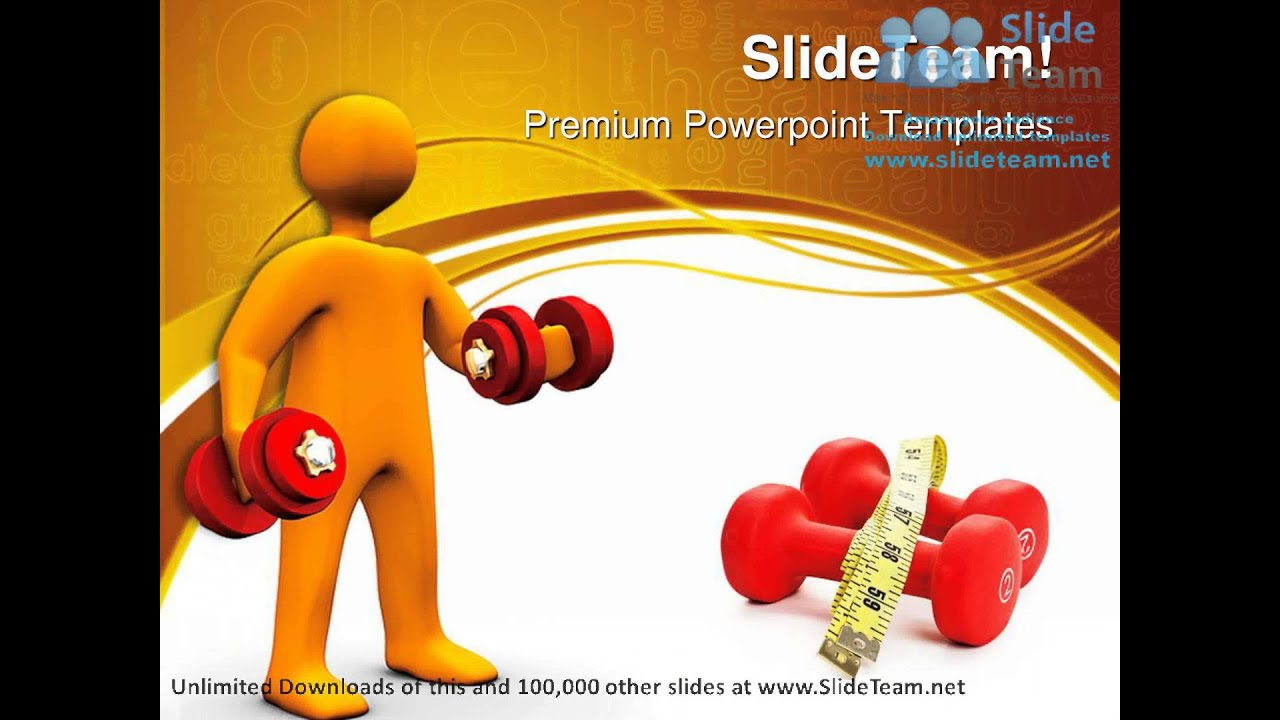 Body Building Health Powerpoint Templates Themes And