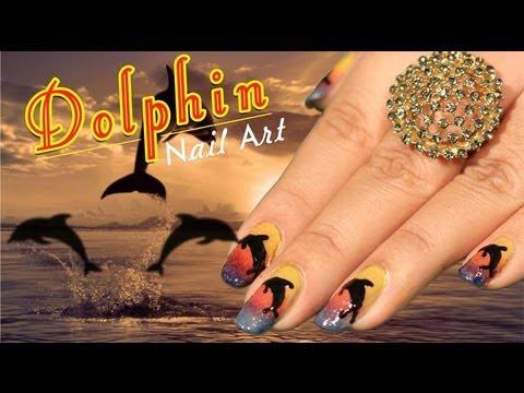dolphin nail art design  do it yourself  khoobsurati