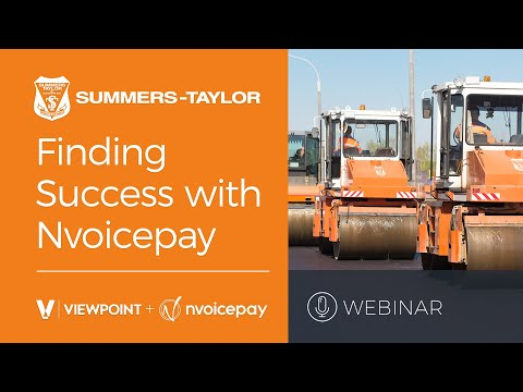 Summers-Taylor's Sucess with Nvoicepay and Viewpoint