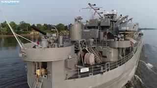 Amazing USS LST 325 Northbound Mississippi River MP 232
