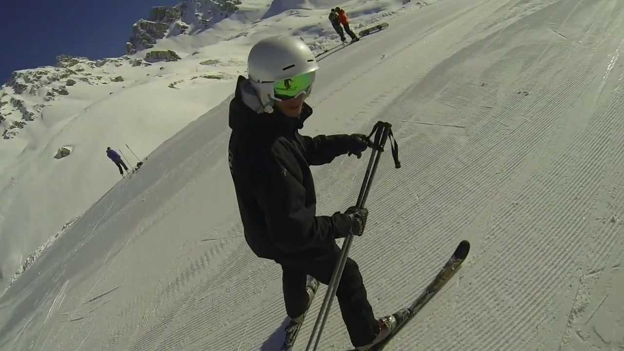 Carving skiing ski slalom part gopro