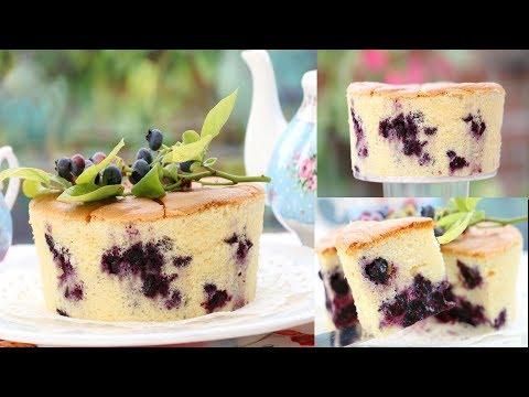 Soft, Fluffy & Light: Yogurt Cake With Blueberries Recipe
