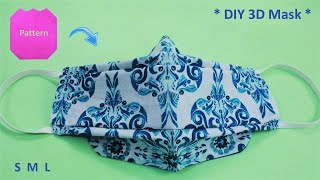 Very Easy New Style 3D Face Mask Sewing Tutorial No Fog on Glasses Breathable Face Mask Pattern